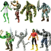 Hasbro Marvel Legends Wave Six - Hulk - Fin Fang Foom Series Group Shot