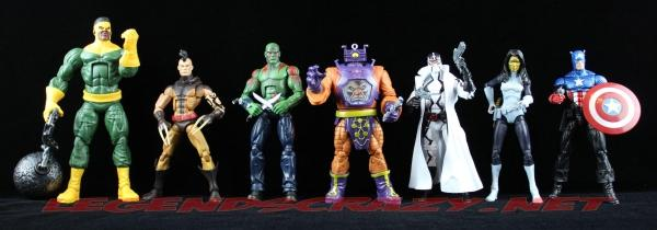 The Return of Marvel Legends Wave Two Arnim Zola Series Action Group Shot