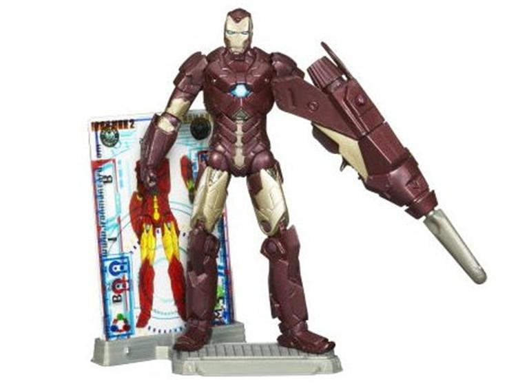 Iron Man 2 Figurine Hypervelocity Armor N°5 Concept Séries Marvel 2009 Hasbro