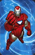 Iron Man Silver Centurion Armor - Superhuman Registration Act Card Back