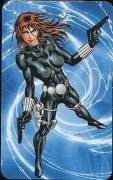 Black Widow - Superhuman Registration Act Card Back