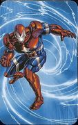 Superhuman Registration Act Card Back - Iron Patriot