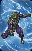 Superhuman Registration Act Card Back - Skrull Soldier