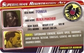 Black Panther - Superhuman Registration Act Card Front