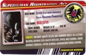 Bullseye - Superhuman Registration Act Card Front