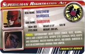 Daredevil - Superhuman Registration Act Card Front