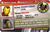 Iron Man Extremis Armor - Superhuman Registration Act Card Front