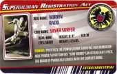 Silver Surfer - Superhuman Registration Act Card Front