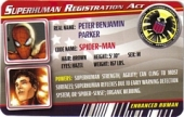 Spider-Man - Superhuman Registration Act Card Front