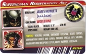 Wolverine X-Force Costume - Superhuman Registration Act Card Front