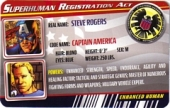 Ultimate Captain America - Superhuman Registration Act Card Front
