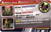 Green Goblin - Superhuman Registration Act Card Front