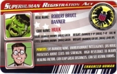 Hulk - Superhuman Registration Act Card Front
