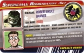Gray Hulk - Superhuman Registration Act Card Front