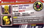 Iron Fist - Superhuman Registration Act Card Front