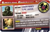 Ronin - Superhuman Registration Act Card Front