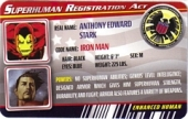Iron Man Classic Armor - Superhuman Registration Act Card Front
