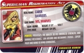 Ms. Marvel - Superhuman Registration Act Card Front