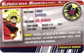 Ms. Marvel Classic Costume - Superhuman Registration Act Card Front