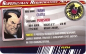 Punisher Version 2 - Superhuman Registration Act Card Front