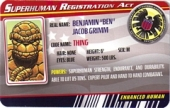 Thing - Superhuman Registration Act Card Front