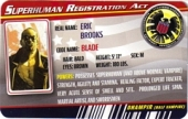 Blade - Superhuman Registration Act Card Front