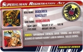 Hobgoblin - Superhuman Registration Act Card Front