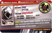 Moon Knight - Superhuman Registration Act Card Front
