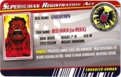 Red Hulk - Superhuman Registration Act Card Front