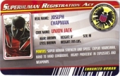 Union Jack - Superhuman Registration Act Card Front