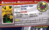 Electro - Superhuman Registration Act Card Front
