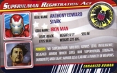 Iron Man Silver Centurion Armor - Superhuman Registration Act Card Front