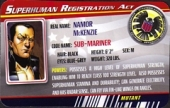 Namor the Sub-Mariner - Superhuman Registration Act Card Front
