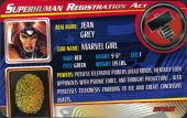 Jean Grey - Superhuman Registration Act Card Front