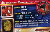 House of M Spider-Man - Superhuman Registration Act Card Front