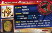 Sunfire - Superhuman Registration Act Card Front