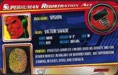 Vision - Superhuman Registration Act Card Front