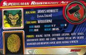 Wolverine - Superhuman Registration Act Card Front