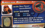 Black Widow - Superhuman Registration Act Card Front