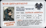 World War II Captain America - Superhuman Registration Act Card Front
