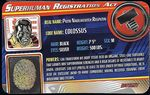 Superhuman Registration Act Card Front - Colossus