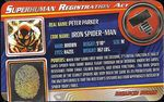 Superhuman Registration Act Card Front - Iron Spider-Man