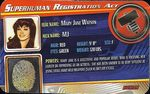Superhuman Registration Act Card Front - Mary Jane Watson
