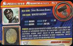 Superhuman Registration Act Card Front - Winter Soldier
