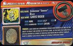 Superhuman Registration Act Card Front - Ghost Rider