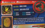 Superhuman Registration Act Card Front - Iron Man 2020