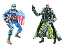 Ultimate Captain America and Ultimate Nick Fury