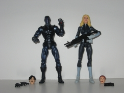 Stealth Iron Man and Sharon Carter