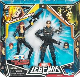 Black Widow and Winter Soldier in Package