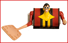 Plastic Man as Suitcase